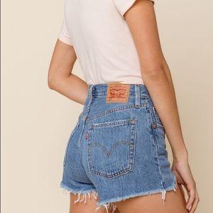 Levi's 501  distress denim shorts